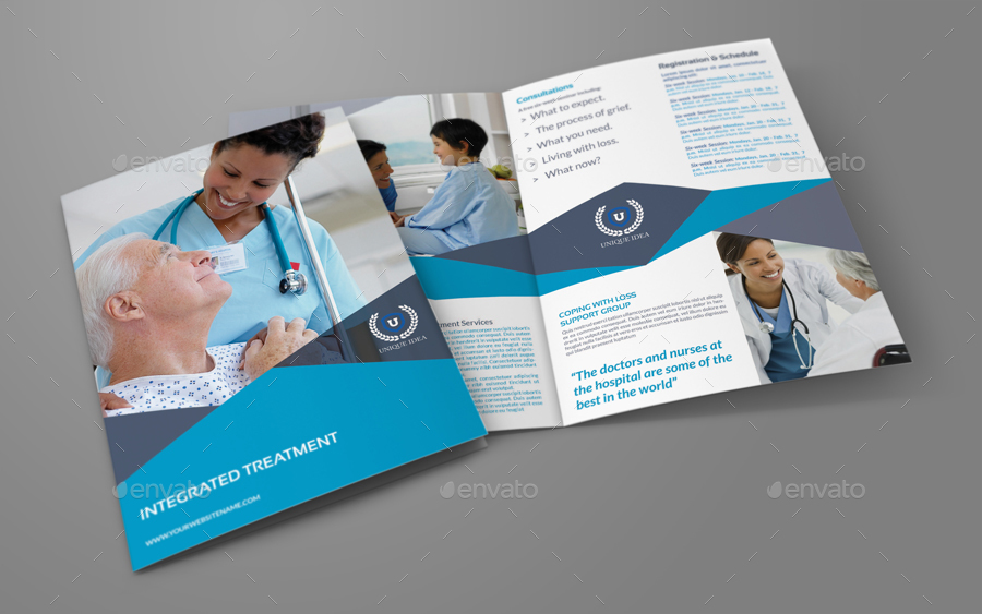 Medical Care BiFold Brochure Template By Owpictures  Graphicriver