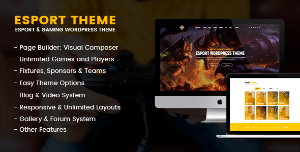 eSport – Gaming WordPress Theme