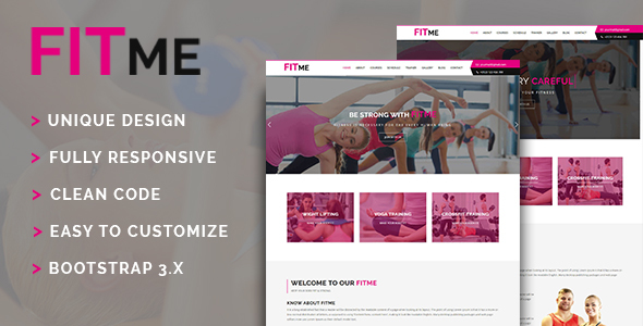 Fitme – Gym & Fitness One Page HTML Template