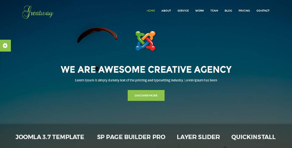 Greatway - Material Design Agency Joomla Theme