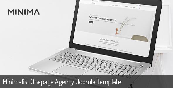 Minima | Minimalist Onepage Agency Joomla Template - Creative Joomla