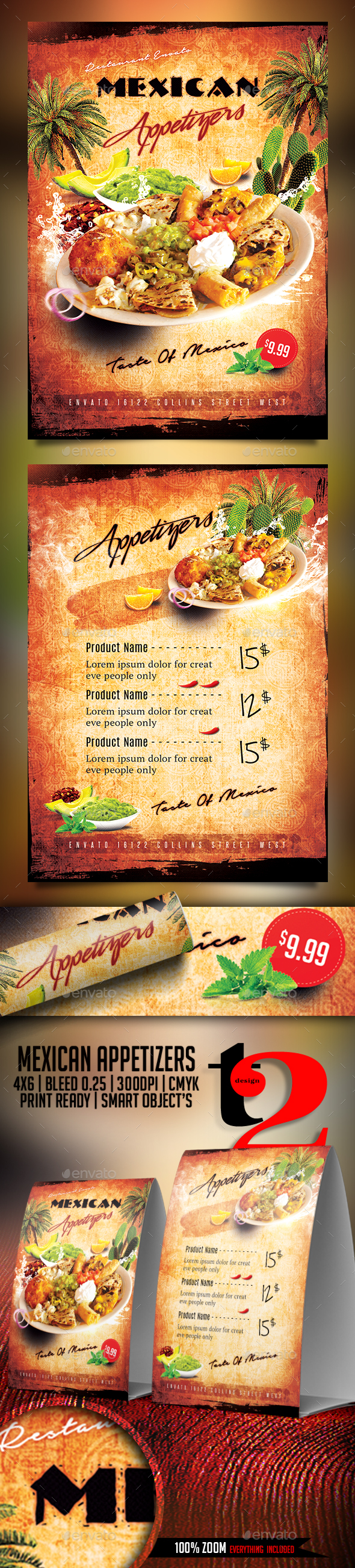 Mexican Appetizers Flyer Template - Restaurant Flyers