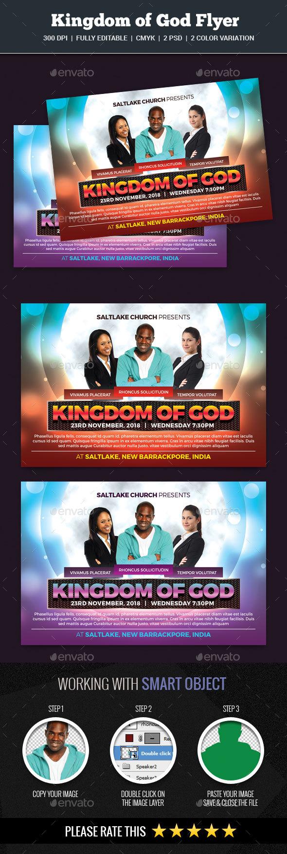Kingdom of God Flyer - Church Flyers