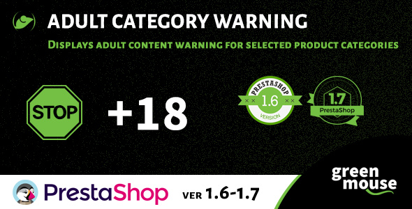 Prestashop Adult Category Warning - CodeCanyon Item for Sale