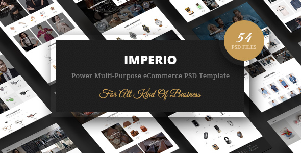 Imperio - Power Multi-Purpose eCommerce PSD Template - Retail PSD Templates