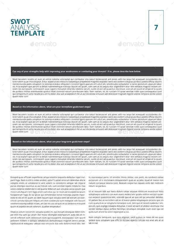 Swot Analysis Template By Keboto  Graphicriver