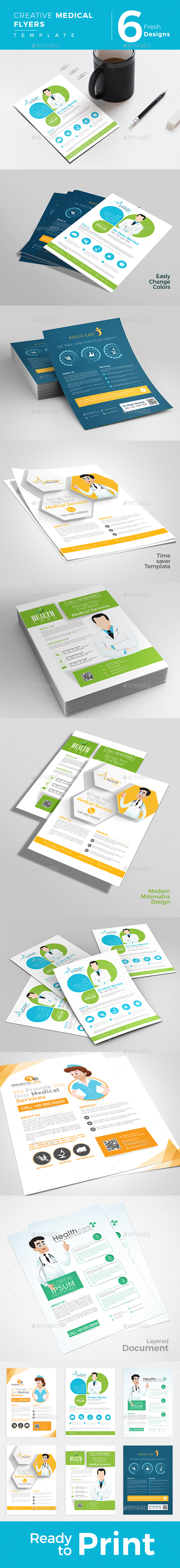 Creative Medical Flyers (6 Designs) - Miscellaneous Events