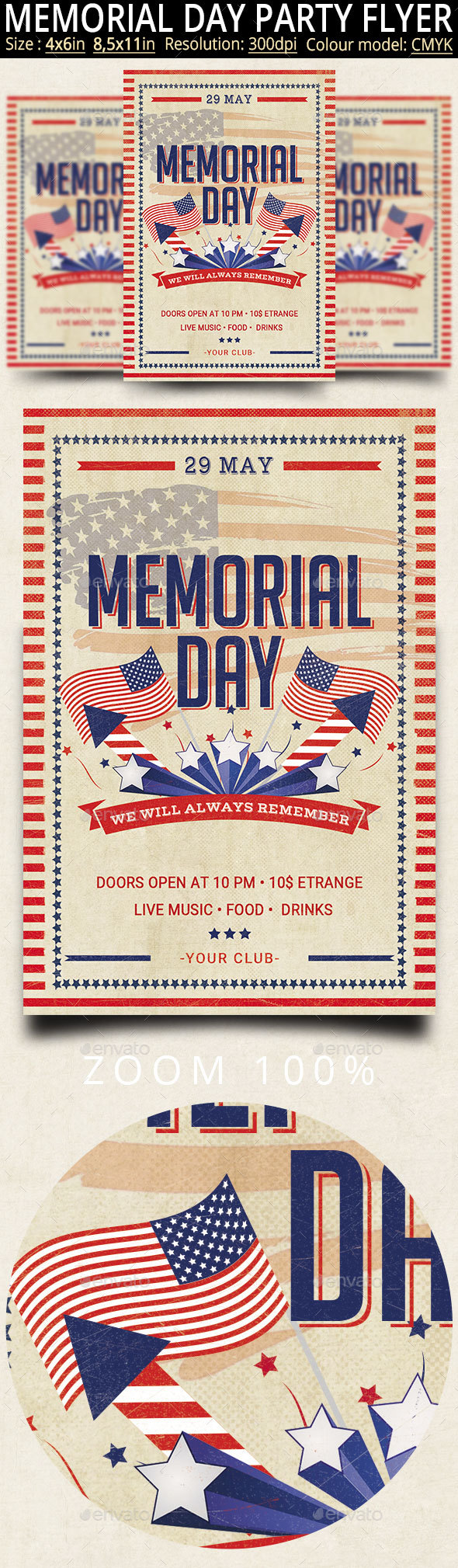 Memorial Day Flyer And Poster - Events Flyers