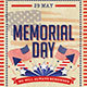 Memorial Day Flyer And Poster - GraphicRiver Item for Sale
