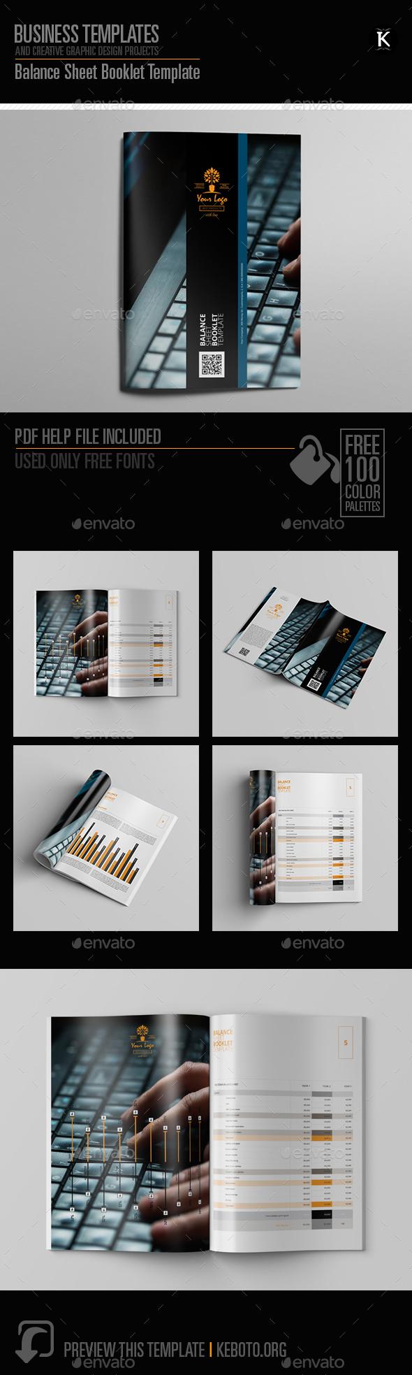 Balance Sheet Booklet Template - Miscellaneous Print Templates