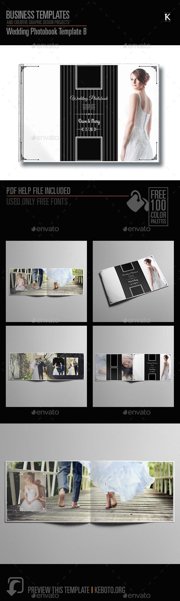 Wedding Photobook Template B - Photo Albums Print Templates