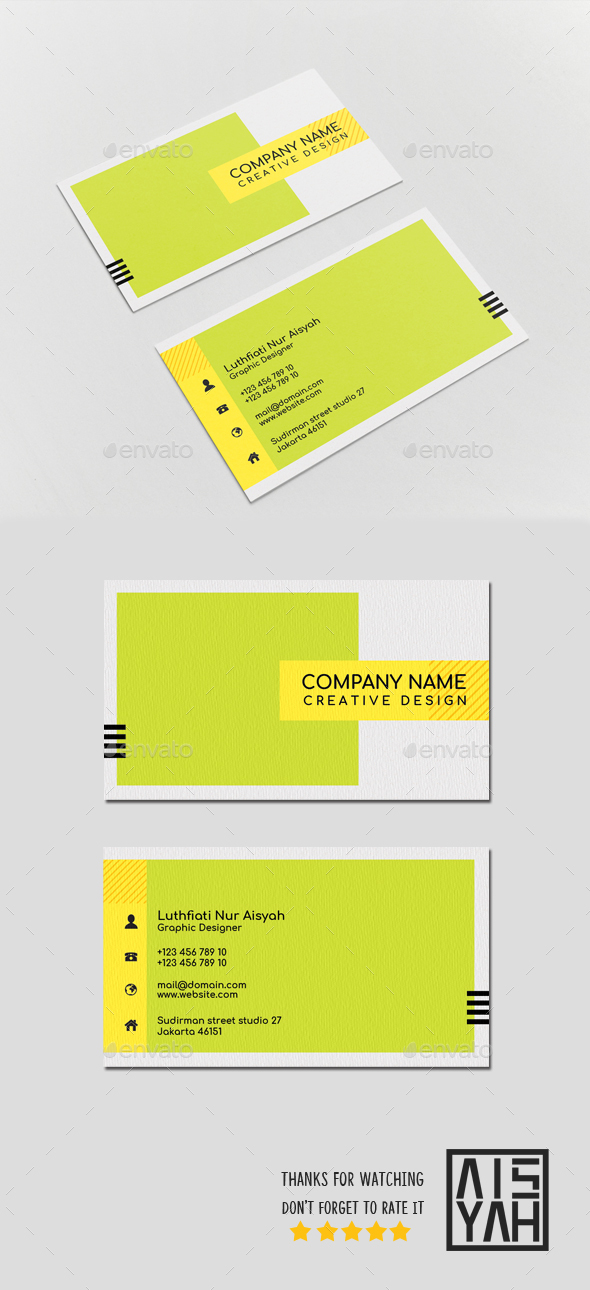 Business Card Color Block - Business Cards Print Templates