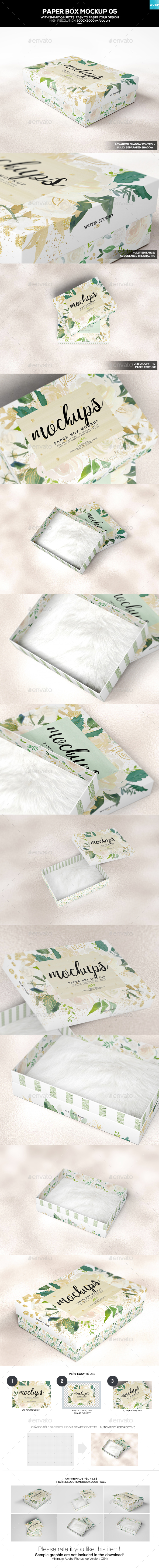Paper Box Mockup 05 - Miscellaneous Packaging