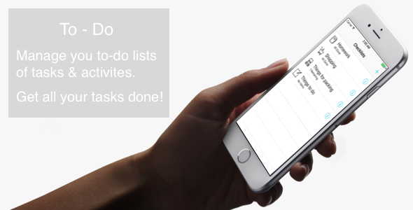 To-Do - iOS App with AdMob - CodeCanyon Item for Sale