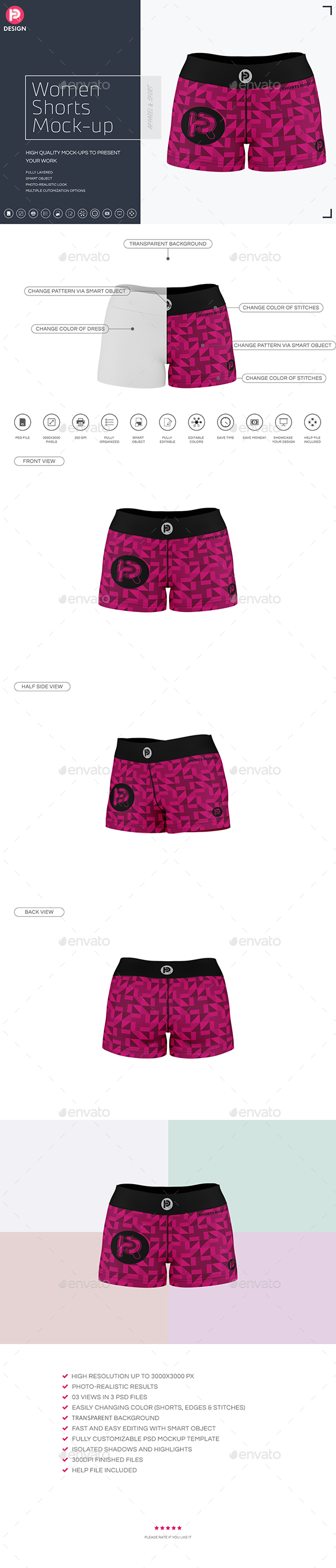 Women Shorts Mock-up - Miscellaneous Apparel