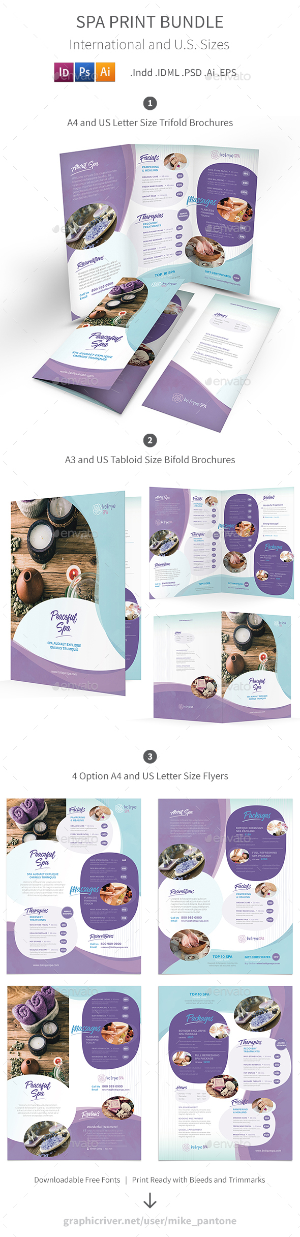 Spa Print Bundle 8 - Informational Brochures