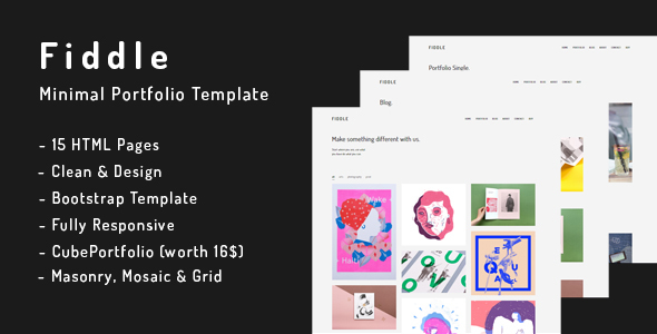 Fiddle – Minimal HTML Portfolio Template