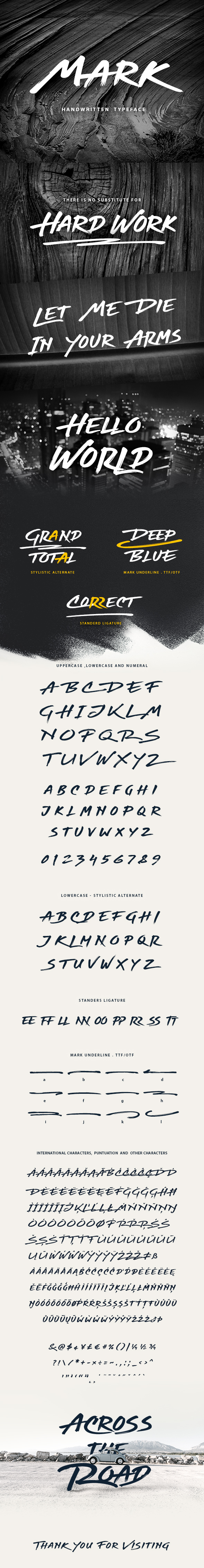 Mark Handwritten Graffiti Font - Handwriting Fonts