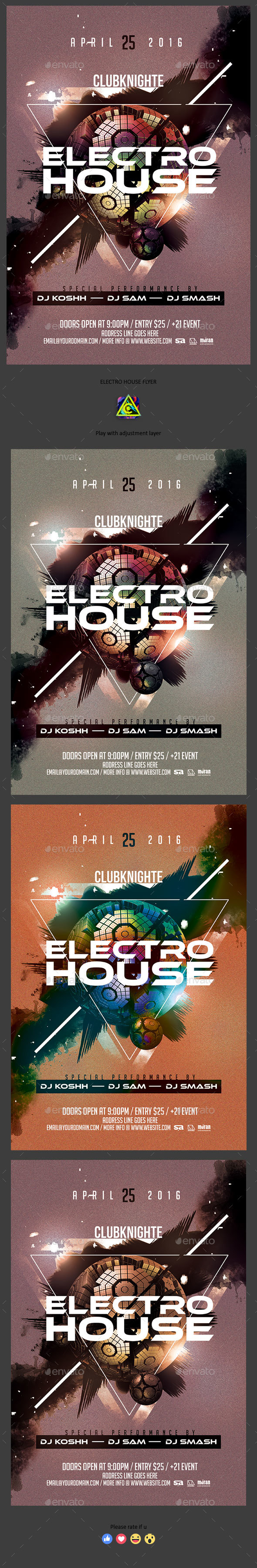 Electro House Flyer - Clubs & Parties Events