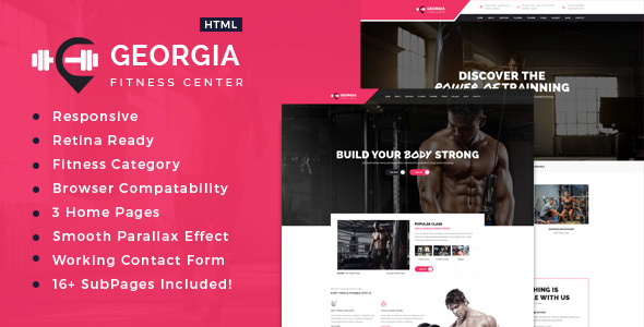 Georgia Sports Health Gym Fitness Html Template By Template Path