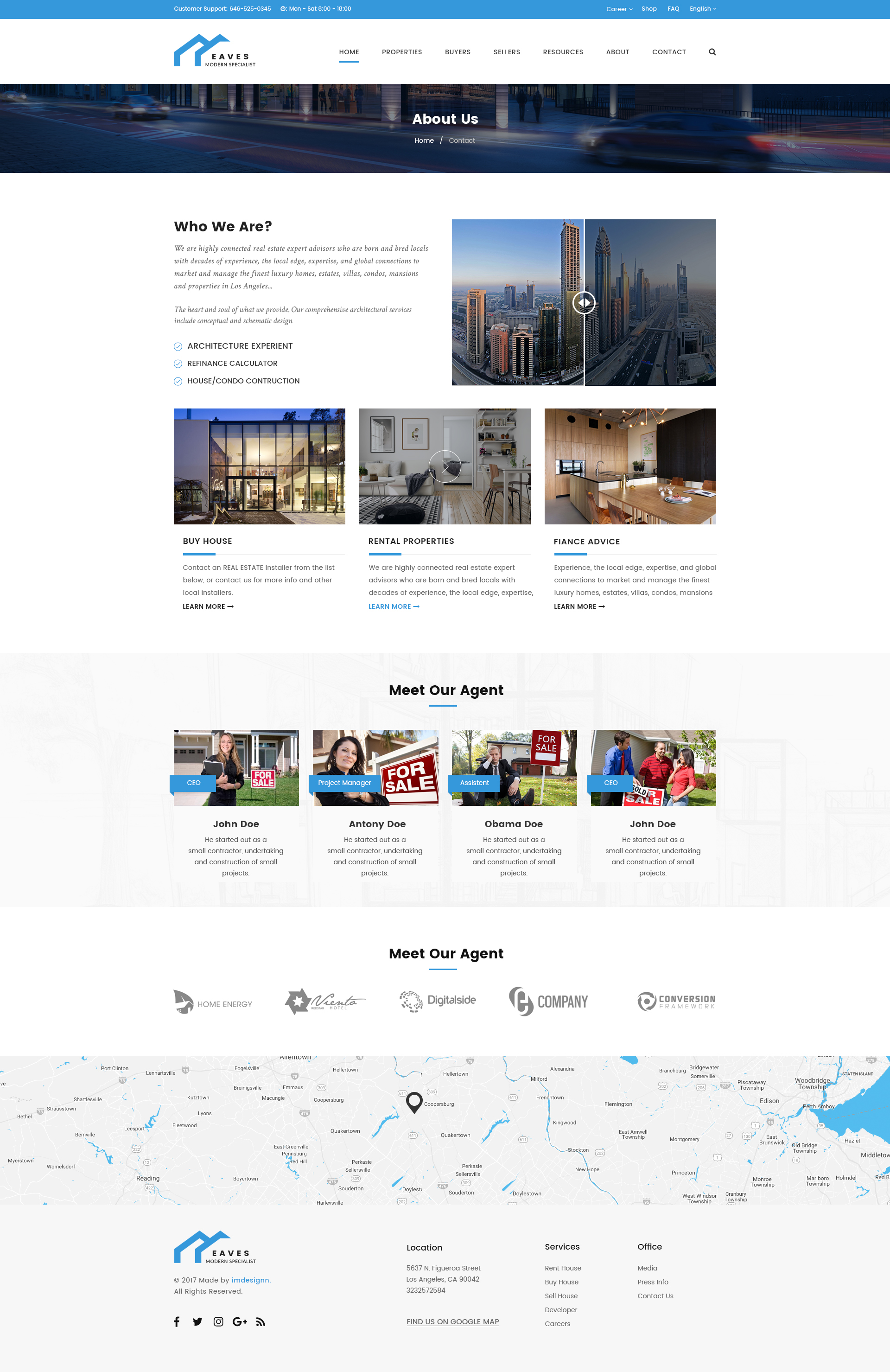 Eaves - Rent Or Sell Your Property, Real Estate PSD Template by ...