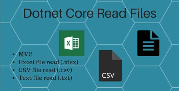 Dotnet core Read excel, csv and text file - CodeCanyon Item for Sale