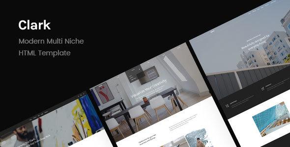 Clark | Modern Multi Niche HTML Template
