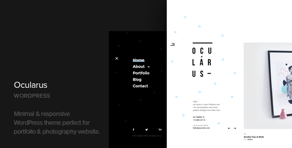 Ocularus – Minimal Photography WordPress Theme