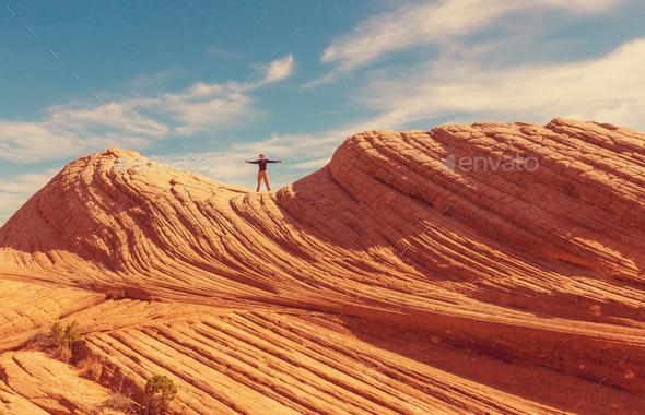 Hike in Utah - Stock Photo - Images