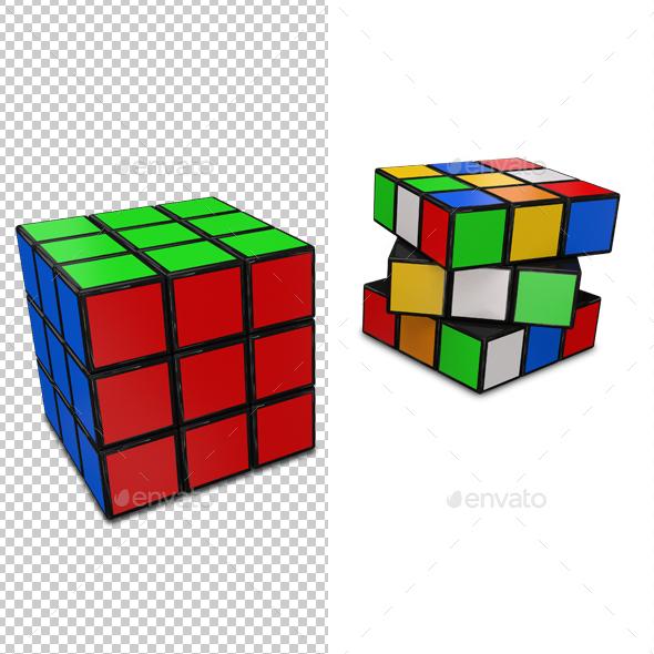 Rubik's Cube - Objects 3D Renders