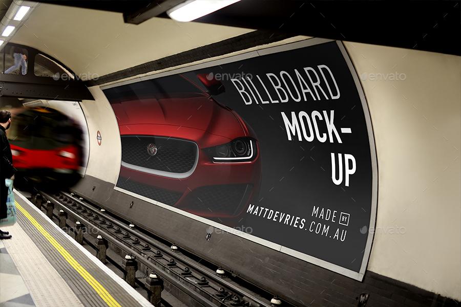 Smart Billboard Advertising Mockup PSD Template