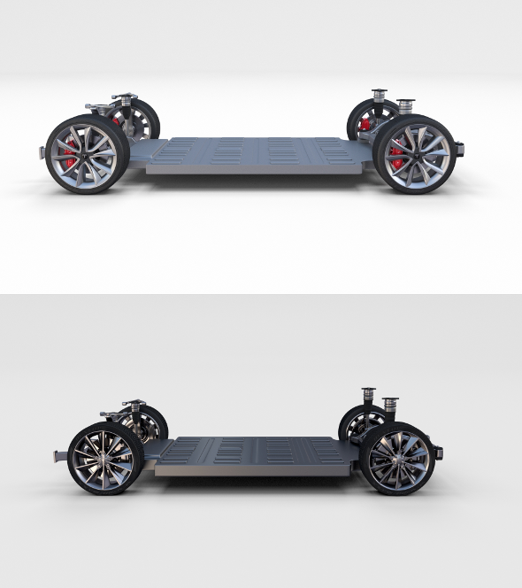 Tesla Model 3 and Model S Chassis Pack - 3DOcean Item for Sale