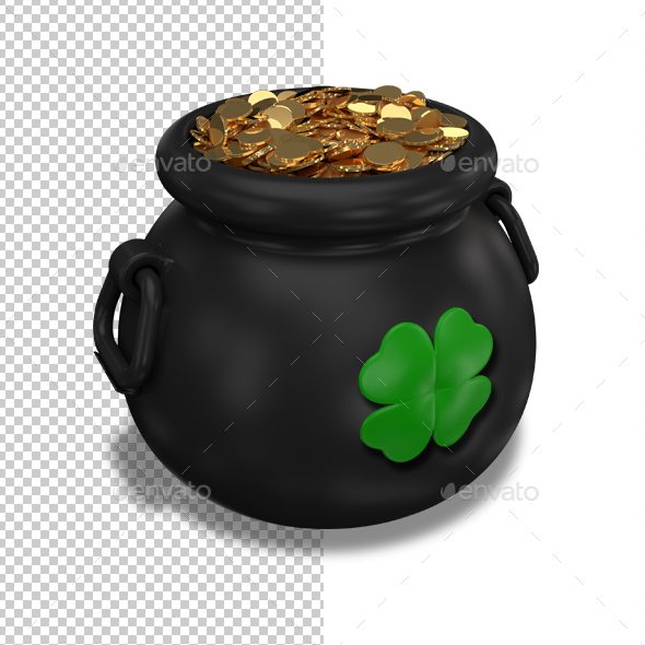 Pot of Gold Coins - Objects 3D Renders