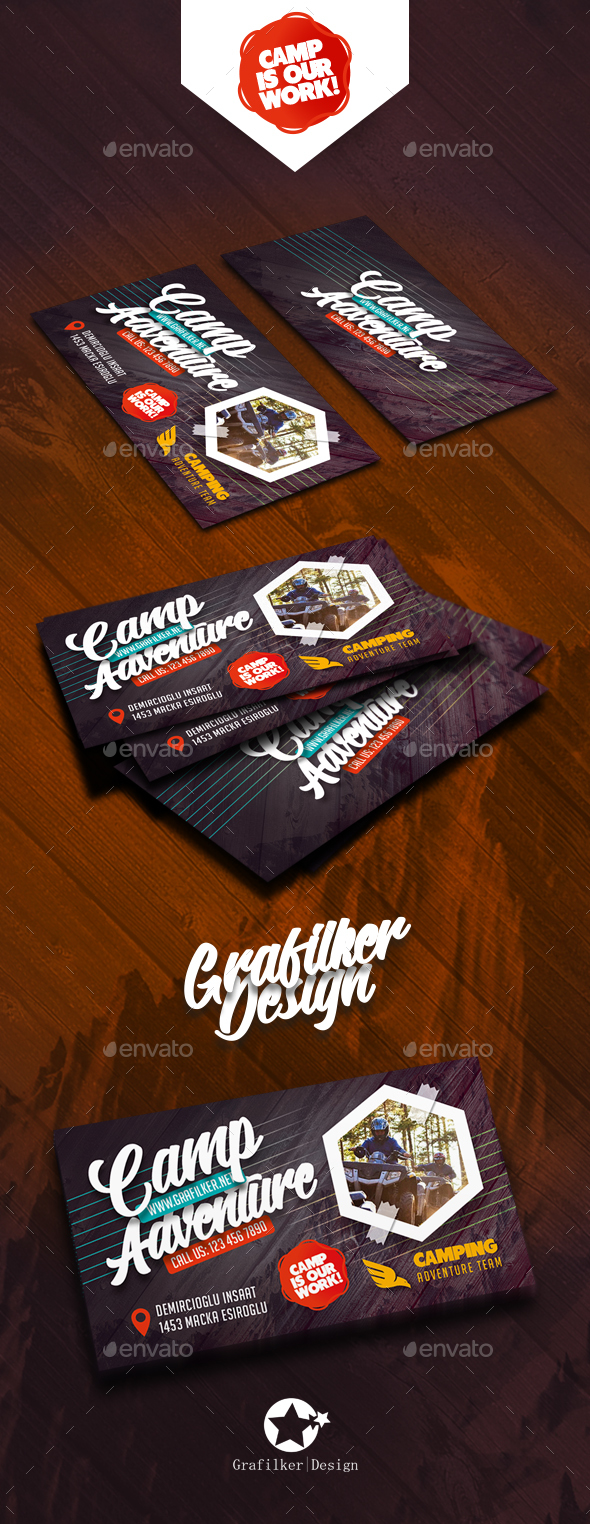 Camping Adventure Business Card Templates - Corporate Business Cards