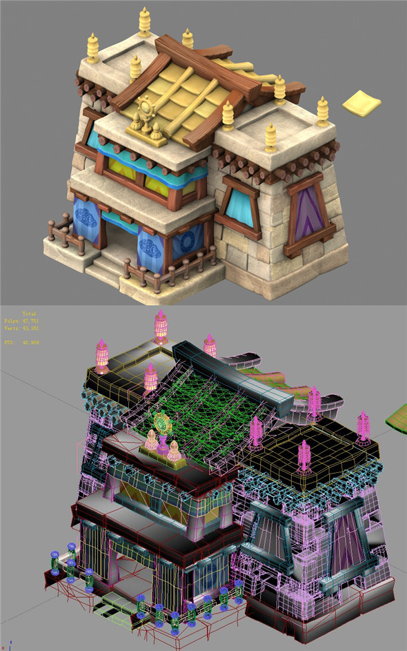 Cartoon World - House 13 - 3DOcean Item for Sale