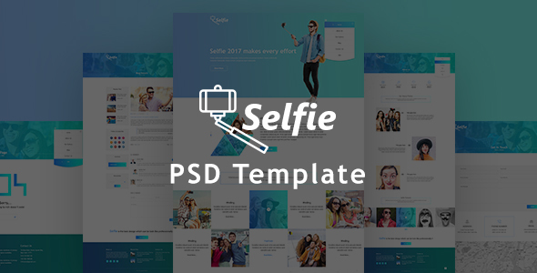 Selfy Photography PSD Template - Photography Creative
