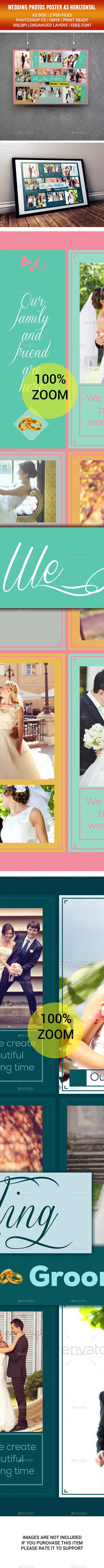 Wedding Poster A3 - Flyers Print Templates