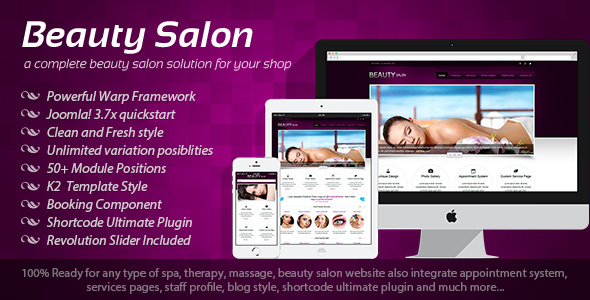 Beauty Salon - Responsive Joomla Template - Health & Beauty Retail