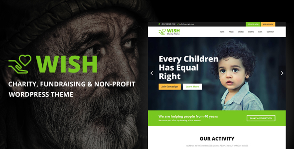 Wish - Charity WordPress Theme