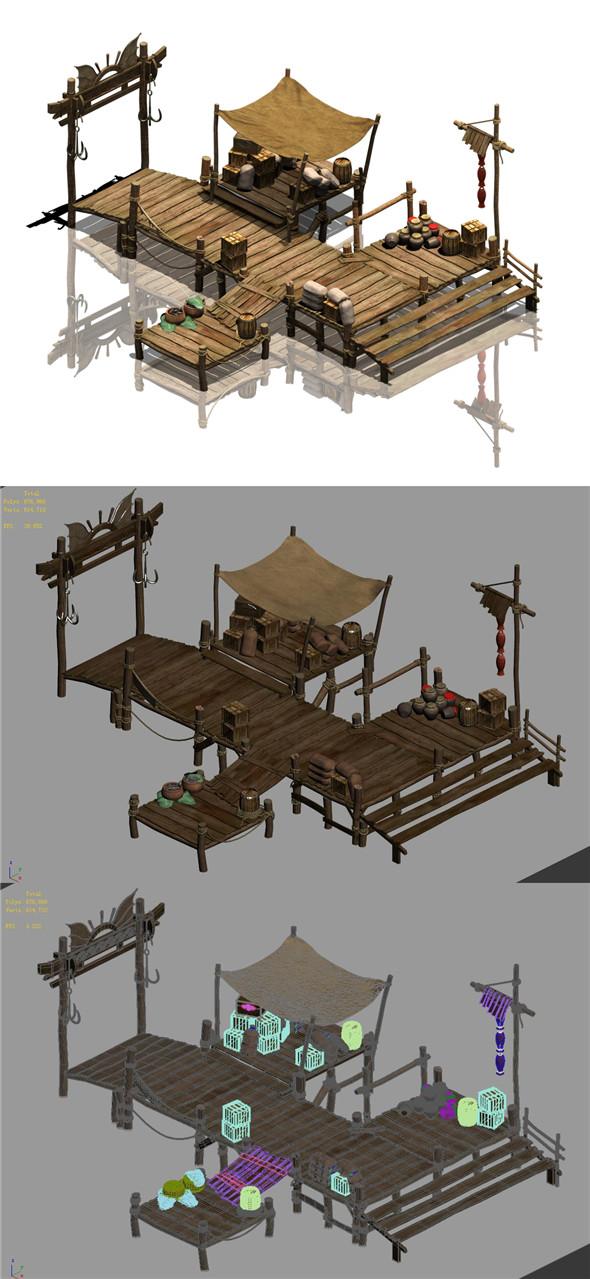 Kuixing Island - Pier - 3DOcean Item for Sale