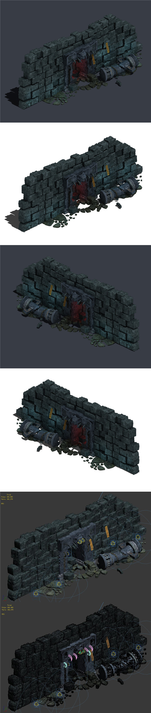 Trapped Dragon Cave - Door Wall 01 - 3DOcean Item for Sale