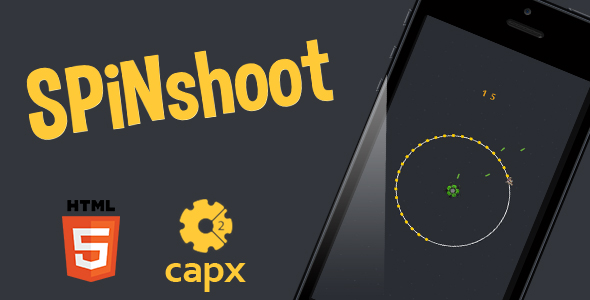 SpiNshoot HTML5 game + Capx - CodeCanyon Item for Sale
