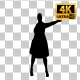 Fat Woman Dancing Silhouette with Transparency-5