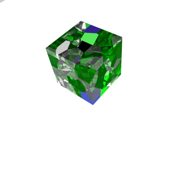 Glass cube - 3DOcean Item for Sale