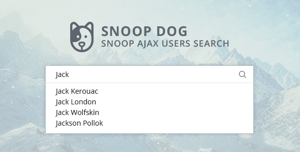 Snoop ajax users search for WordPress - CodeCanyon Item for Sale