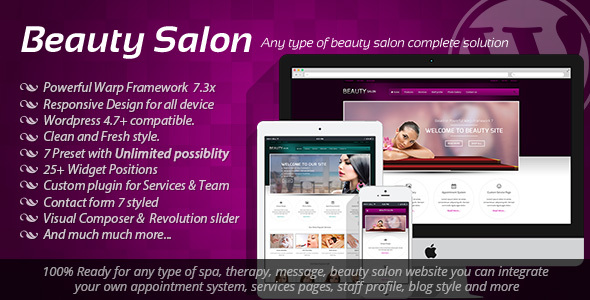 Beauty Salon - Responsive WordPress Template