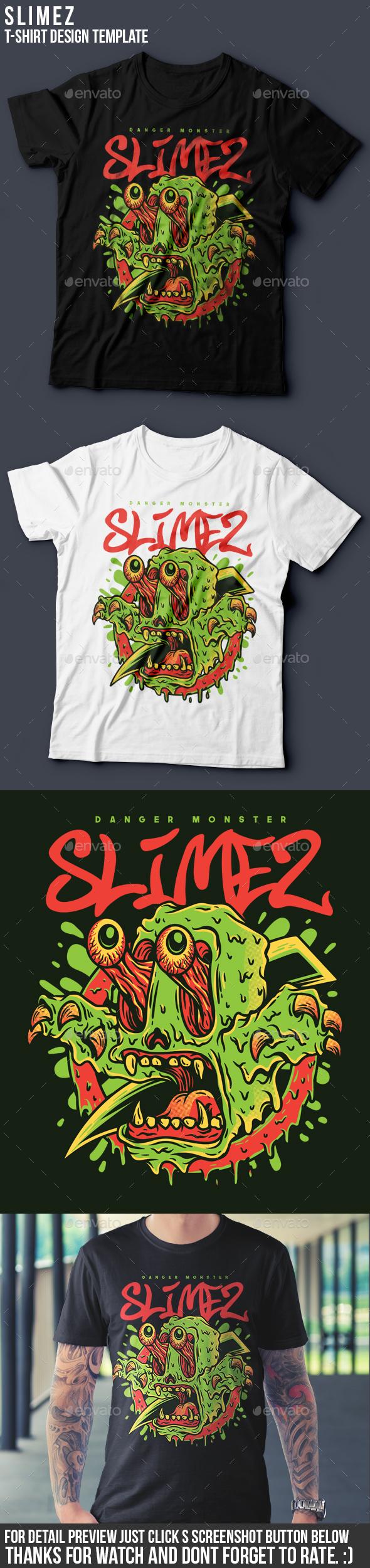 Slimez T-Shirt Design - Grunge Designs