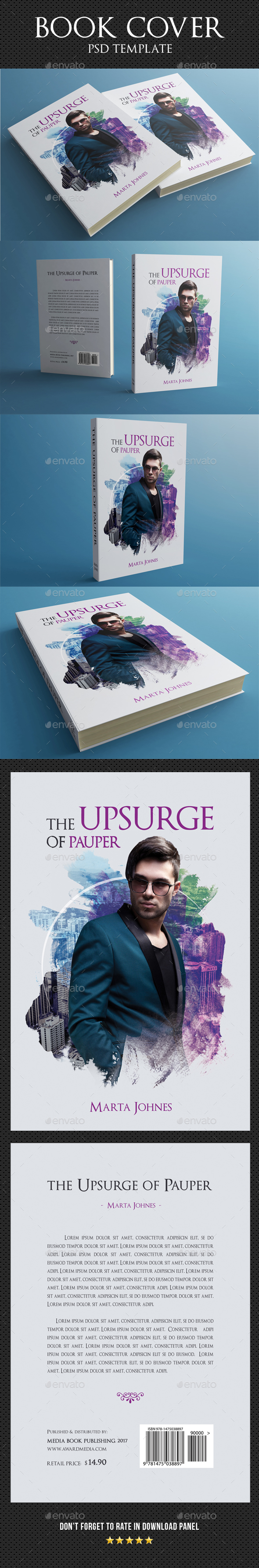 Book Cover Template 35 - Miscellaneous Print Templates