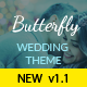 Butterfly - A Wedding WordPress Theme - ThemeForest Item for Sale
