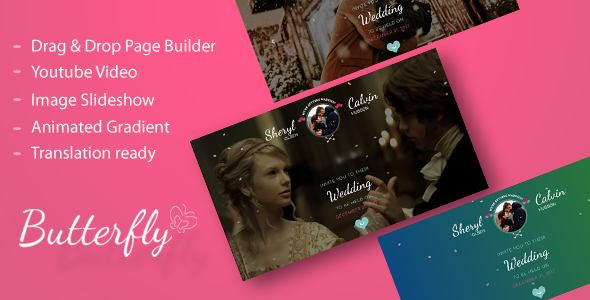 Image of Butterfly - A Wedding WordPress Theme